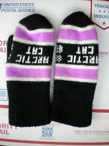 vintage arctic cat knit mittens
