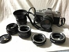Minolta SRT 202 35mm SLR W/ Rokkor 50mm F1.4, Rokkor 45mm F2, Rokkor 50mm F1.7