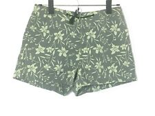 Gap Women's Green Boardshorts w Hibiscus Print! Drawstring, Back Pocket. Size S