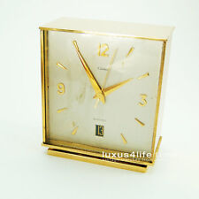 Cartier ELECTRO Mecanic Clock, The Guardian, Square Case, Brass, Date, NICE