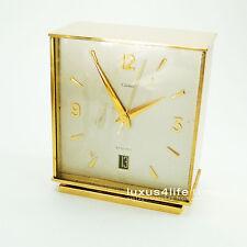 Cartier ELECTRO Mecanic Clock, The Guardian, Square Case, Brass, Date, NICE