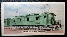Orient Express   Simplon   Original 1930's  Vintage Colour Card