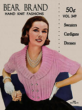 Bear Brand #349 c.1954 - 1950's Era Hand Knitting Fashion Patterns for Women