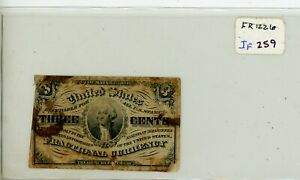 Fr. 1226 Fractional Currency 1863 3 cents 3c Note # 259