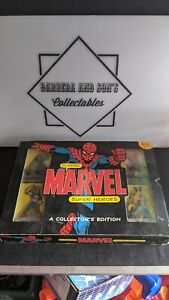 Classic Marvel Super Heroes  Collector's Edition 4 Figures + Book  as is
