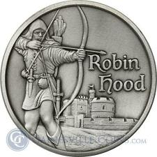 2 Oz Robin Hood Ultra High Relief .999 Silver Heroes Medieval Crusades Templar