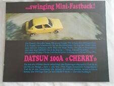 Datsun 100A Cherry brochure c1970's Swiss market  German text