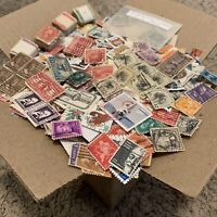 HUGE BOX OF U.S.A. OFF PAPER STAMPS, GREAT FATHER'S DAY PRESENT