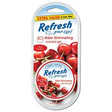 3 X REFRESH Scented GEL Pot Car Air Freshener Freshner Scent - Very Cherry