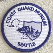 Uscg United States Coast Guard Museum Seattle Wa patch 3 in dia #2629