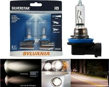 Sylvania Silverstar H9 65W Two Bulbs Head Light High Beam Replacement Upgrade OE
