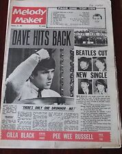 MELODY MAKER FEBRUARY 29 1964 DAVE CLARK BEATLES CILLA PEE WEE HODGES IRWIN POOL