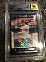 2007 Topps 2006 Highlights Autograph David Wright BGS 8.5 Auto 10 New York Mets