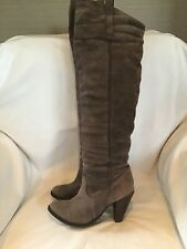 OVER THE KNEEE Brown DISTRESSED Leather Cowboy BOOTS SIZE 41 Size 8