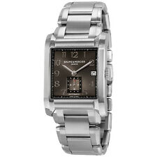 Baume and Mercier Automatic Black Dial Stainless Steel Mens Watch 10048