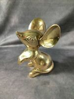 VINTAGE Gatco Solid Brass LARGE Adorable Mouse Figure Paperweight