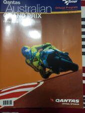 2001  AUSTRALIAN MOTORCYCLE GP  RACE PROGRAMME MOTOGP BIAGGI  ROSSI