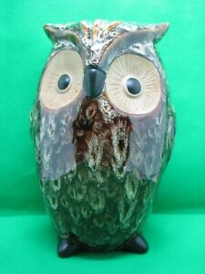 """Elegant Expressions By Hosley""  Brown Ceramic OWL Vase"