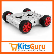 Imported Superior Quality Machine Finished Metal Robot Car Chassis Sliver KG376