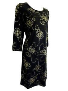 PRASLIN @ SIMPLY BE BLACK/PURPLE/GOLD FLORAL SPARKLY DRESS - PLUS SIZES 18 - 28