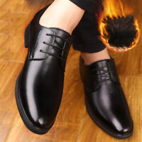 Men Real Leather Classic Oxfords Dress Formal Business Lace Up Shoes Winter Fall