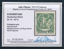 Echte Briefmarken aus dem deutschen Reich (1919-1923) mit BPP-Fotobefund