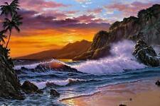 diy  diamond painting full  drill 30 x 20 cm - OCEAN AT SUNSET - STOCK IN USA