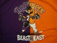 MLB NFL Baltimore Orioles And Ravens Baseball And Football T Shirt Size 2XL