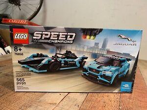 Lego Speed Champions Formula E Panasonic Jaguar Racing GEN2 car & Jaguar...