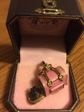 Juicy Couture Pink C Dog Carrier Charm With Scottie Dog YJRU1370 New In Box