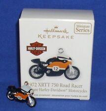 Hallmark Miniature Ornament Harley Motorcycle 2012 1972 XRTT 750 Road Racer #1
