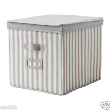 IKEA Svira Box With Lid Gray Storage Organization Closet Home Office 603.002.94