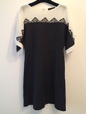 Jo ne Fui Nouveau Chantoung robe avec soie Inserts, taille 40It/ UK 8