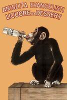 Anisetta Evangelisti Liquore Da Dessert Vintage 1925 Italian Advertising Monkey