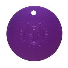 EIP Nikola Tesla EMF Positive Energy Purple Plate Large Disk Pendant - Original