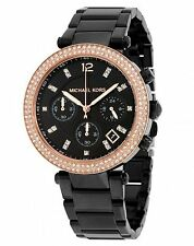 Michael Kors MK5885 Womens Black Dial Analog Quartz Watch