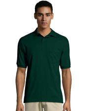 Men's Cotton-Blend EcoSmart® Jersey Polo with Pocket