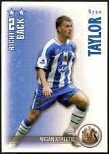 Ryan Taylor Wigan Athletic disparar fuera 2006-7 Caja Mágica tarjeta de comercio de fútbol (C1312)