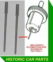 """2 COMPETITION NEEDLES for 1½"""" HS4 SU Carbs suit MINI Cooper S 1310cc 1969-71"""