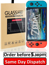 2  Pack Fits Nintendo Switch Console Real Tempered Glass Full Screen Protector