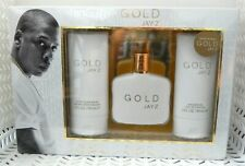 3 Pc Gift Set GOLD JAY Z EDT 1 oz Aftershave Shower Gel 3 oz Each NIB (052) Mens