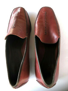 Men's Cole Haan Burgundy Leather Sz 10B Loafers with Braided Stiching EUC