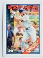Dwight Evans #470 Topps 1988 Baseball Card (Boston Red Sox) VG