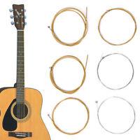 6Pcs/1Set Bronze Steel Strings Warm Balanced Tone Acoustic Guitar 150XL Soft