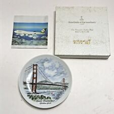 Vintage Eva Air Kaiser Porzellan Wall Plate San Francisco Golden Gate