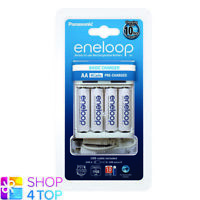 PANASONIC ENELOOP USB BASIC CHARGER BQ-CC61 + 4 RECHARGEABLE AA BATTERIES NEW