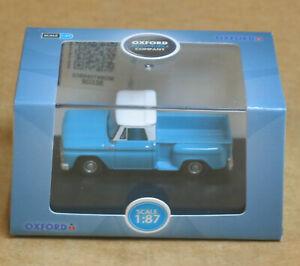 OXFORD Automobile Company HO 1965 Chevrolet Stepside Pick Up Light Blue/White