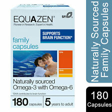 Equazen Naturally Sourced Family Capsule Omega-3 with Omega-6, 180 Capsules