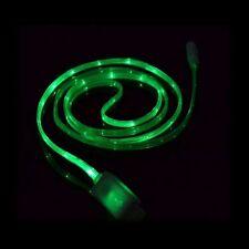 Huawei Honor 7 Cavo MicroUSB Dati Ricarica Micro USB Neon LED Verde