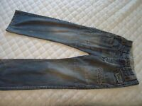 "G-STAR ""DART RT S/S""  STRAIGHT SLIM BUTTON FLY MEN'S JEANS  L 32"" ..W 28"""